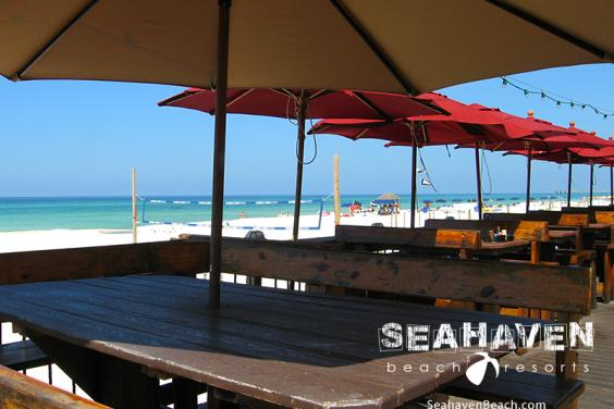 Kids eat free at Sharky's Beachfront Restaurant and Tiki Bar