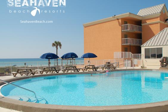 Seahaven Hotel gulf side pool deck