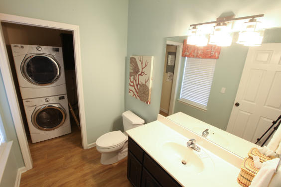Half Bath and Laundry Area