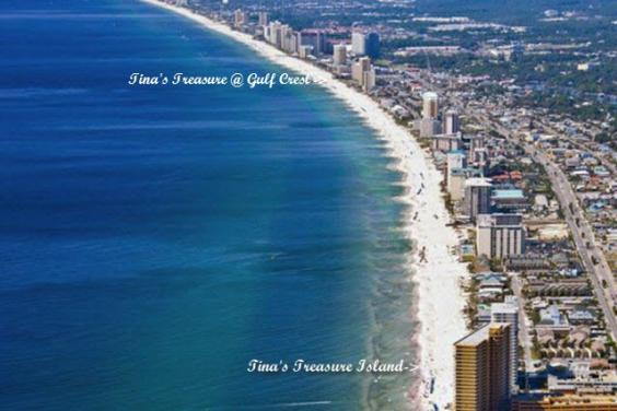 View of Tina's Treasures PCB from the air from St. Andrews State Park