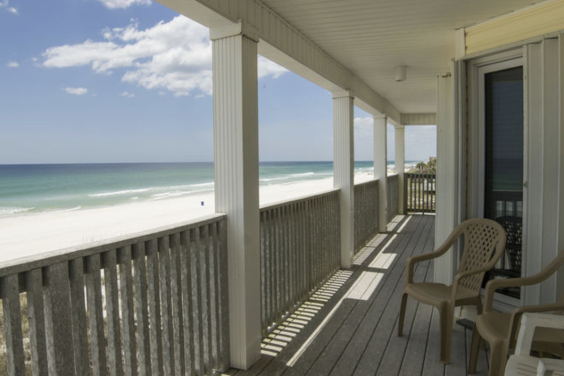 Beautiful views await you on this fabulous second floor deck!