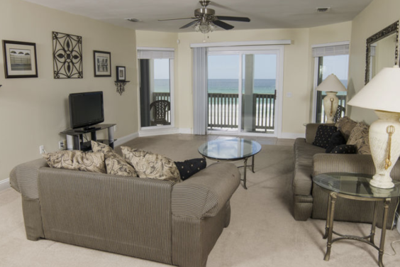 Second floor living room! Look at that view!