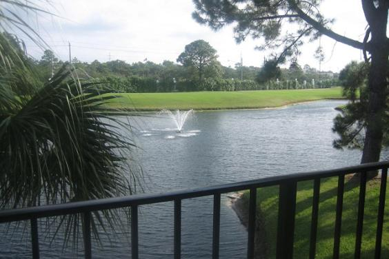 View of golf course from balcony