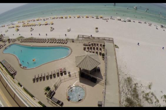Video tour from our 802 sq ft balcony overlooking the Gulf of Mexico and Panama City Beac