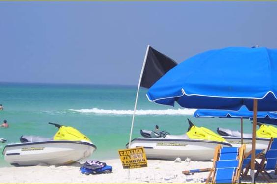 rentals of boats, waverunners are available right on the beach