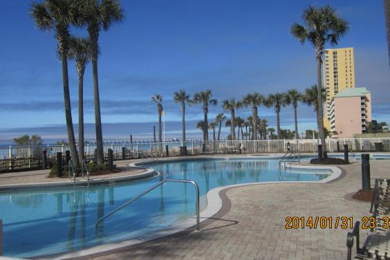 1 of 2 outdoor pools.