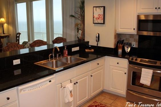 View of Kitchen looking out over Gulf of Mexico