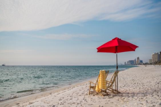 Beach View with Umbrella
