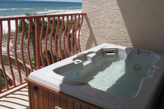 2 person hot tub on private gulf front balcony!