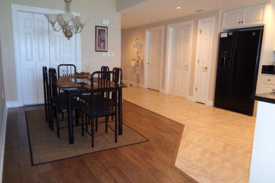 Dining room with foyer entrance