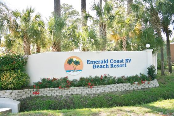 Emerald Coast RV Beach Resort Entrance