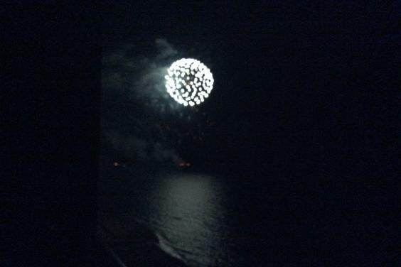 Fireworks from our balcony.