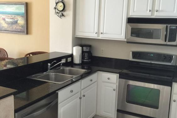 KITCHEN IN CALYPSO BEACH HOUSE ON THE MOON