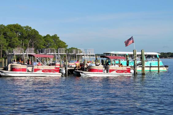 Shell Island Shuttle Service and Pontoon Boat Rentals