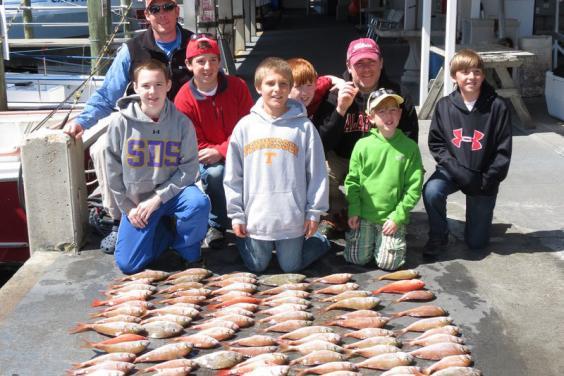 Triggerfish, Snapper on Miss Kelley