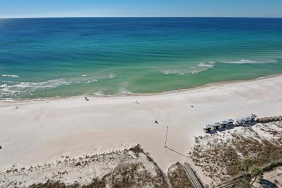 View of Beach from Balcony Unit 1602