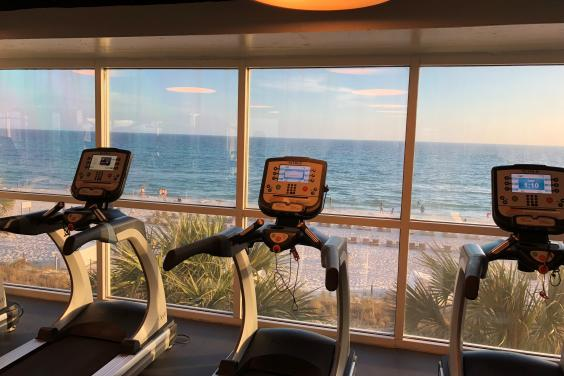 Gym with a beautiful view