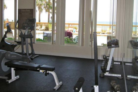 Fitness Center Facing pool & beach