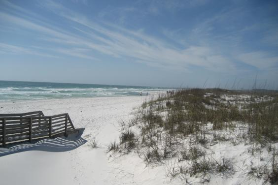 Board Walk to Beach at Shell Island