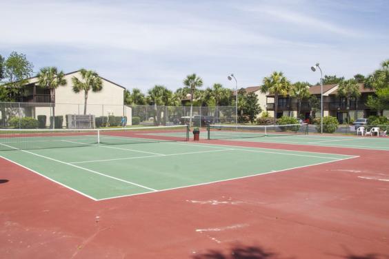 Portside tennis court