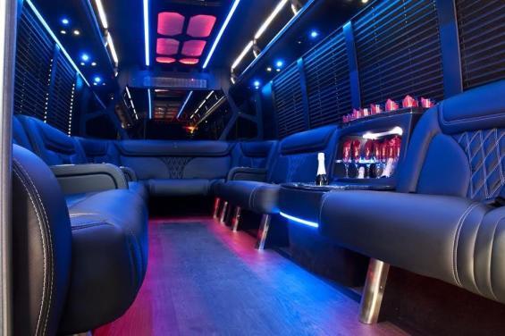 23 passenger Limo shuttle interior