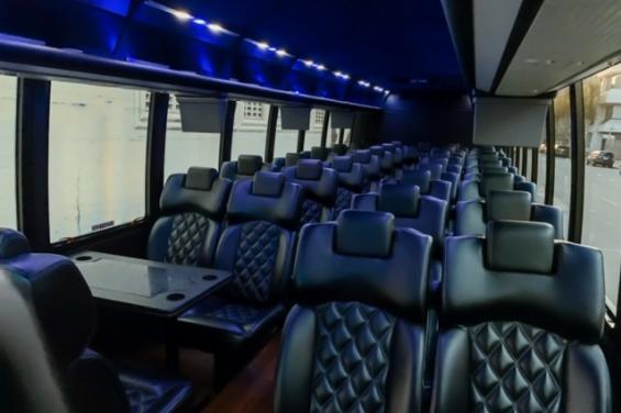 Interior of Motor coach/bus