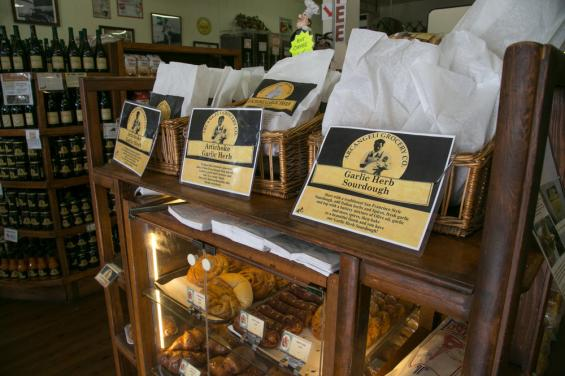 Inside store with baked goods