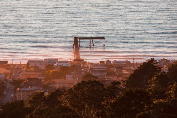 Pacifica Pier at Sunset by Bradley Wittke