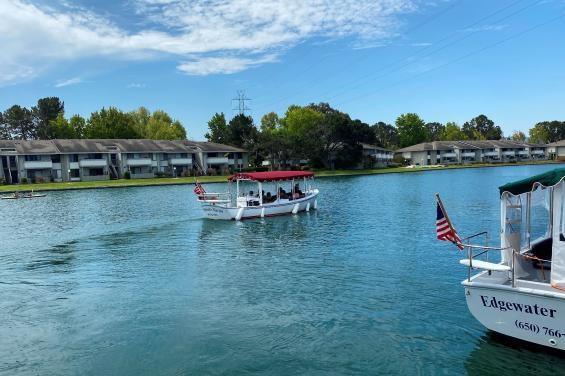 Edgewater Marine boat on Foster City Lagoon