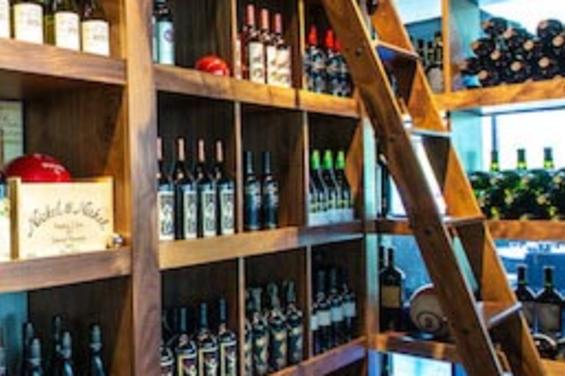 Wine Bottles at Pinstripes