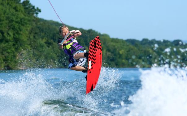 Wakeboarding on Lake Travis