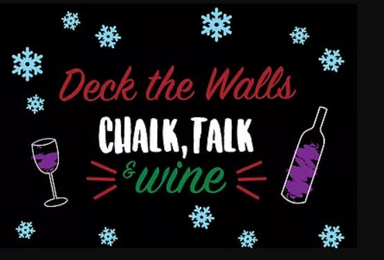 Deck the Walls: Chalk, Talk & Wine banner