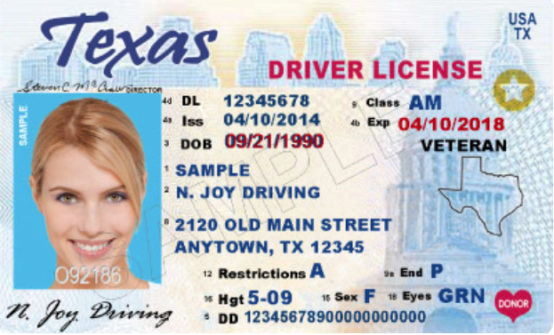 real id sample