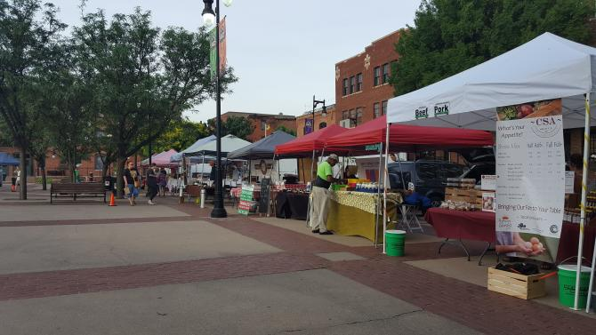 Wichita Farmers Market stands