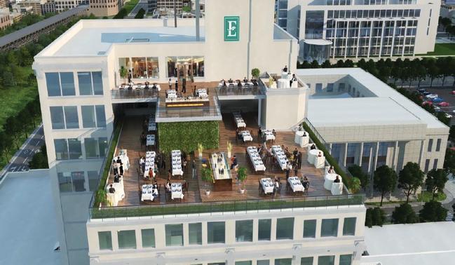 embassy suites exterior deck rendering