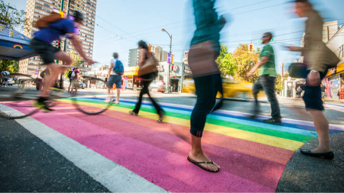 Davie Village | Rainbow Crosswalk