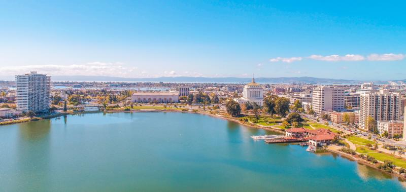 Aerial Shot of Lake Merritt Neighborhood
