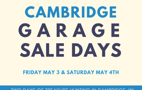 Cambridge Spring Garage Sale Days