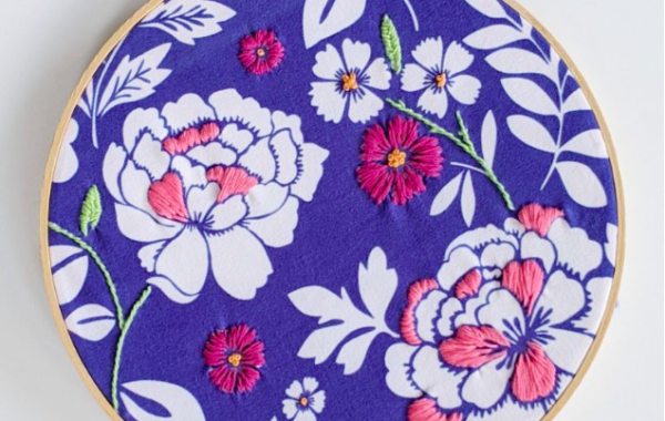 Not Your Grandma's Embroidery: Floral Fabric Embellishment