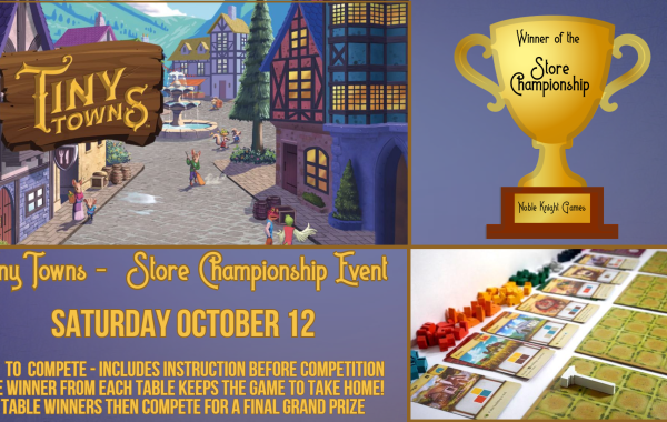 Tiny Towns Board Game Championship - Learn & Win!