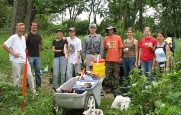 UW-Madison Arboretum Ecological Restoration Work Party: Core Area and Curtis Prairie.