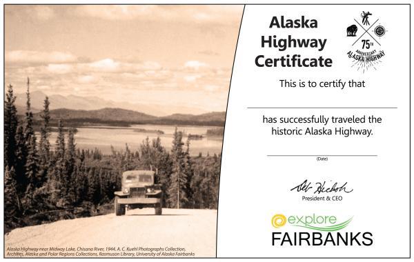 Alaska Highway Certifcate