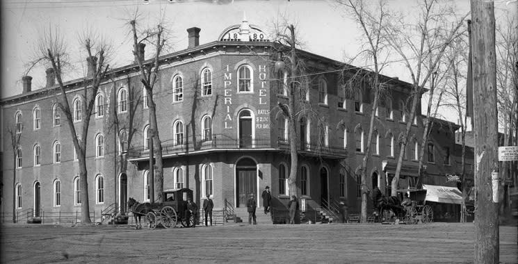 The Imperial Hotel and Longmont's Main Street, early 1909.