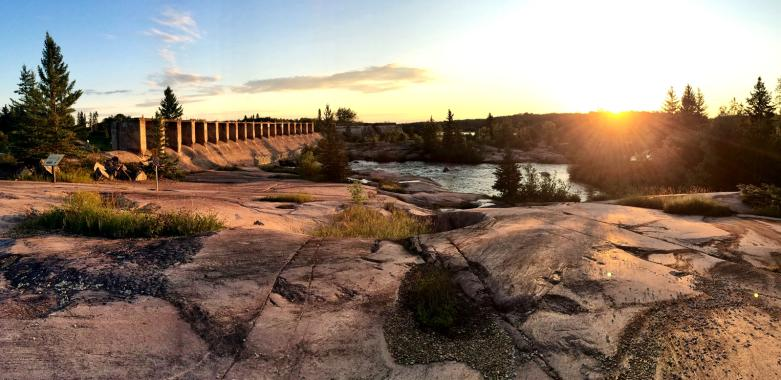 Sunrise at Old Pinawa Dam with max muench (@muenchmax)