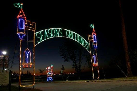 Prien Lake Park Christmas Lights