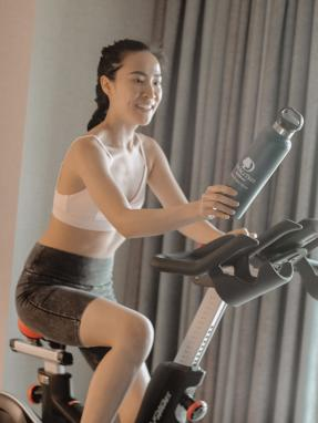 DoubleTree Irvine Spectrum Five Feet to Fitness Cycling Bike and Waterbottle