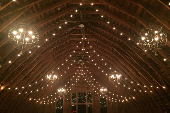 48 Fields Upper Level Barn Overhead Lighting
