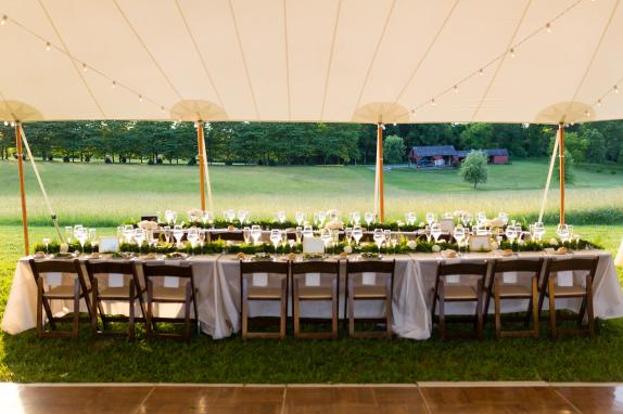 Tent Reception in Back Field