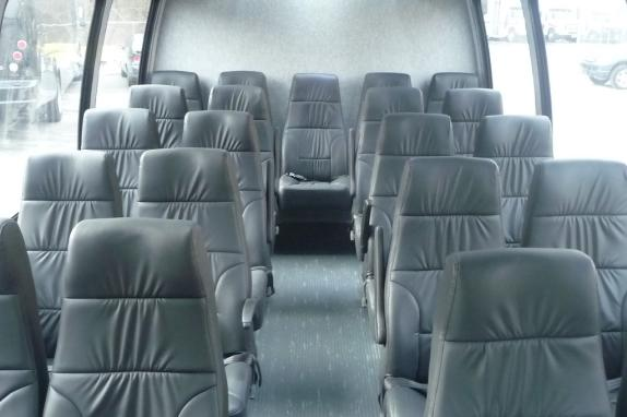 Interior of 23 passenger Executive bus