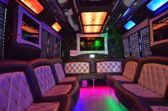 Interior of 24 pass 2018 Limo/Party bus